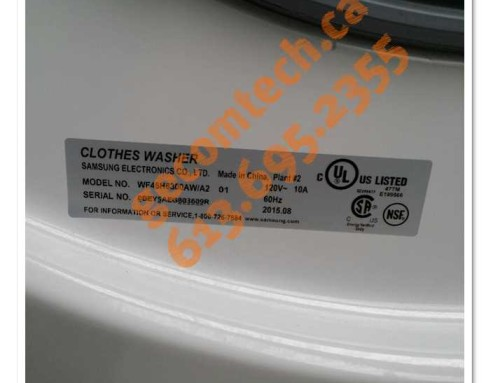 Samsung clothes washer repair